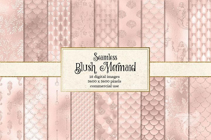 Blush Mermaid Digital Paper