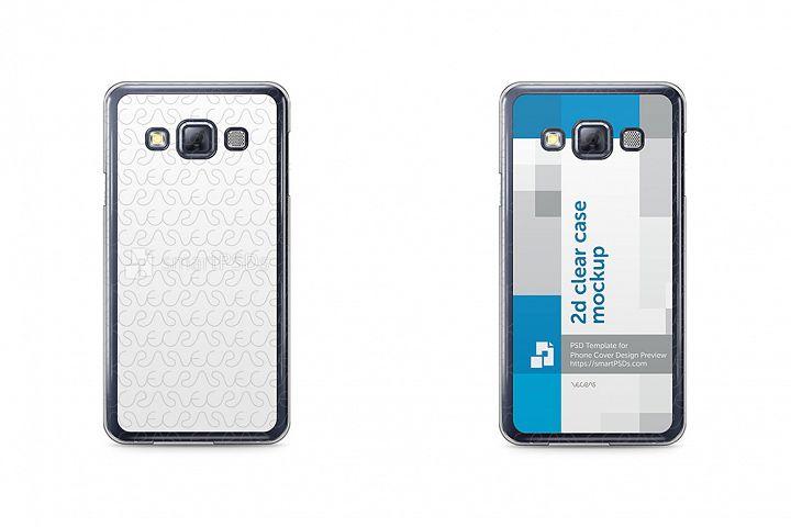 Samsung Galaxy A3 2d Clear Mobile Case Design Mockup 2015