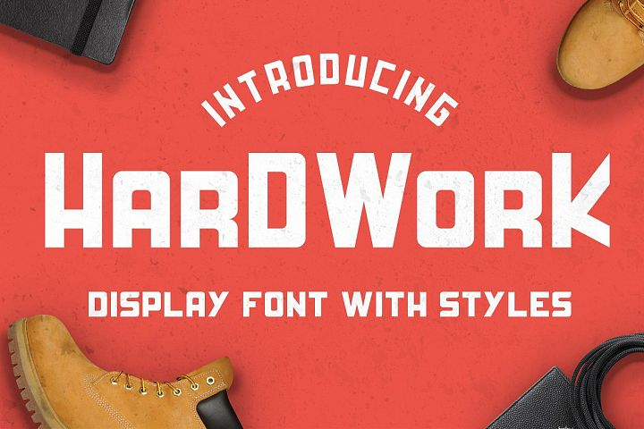 HardWork - Display Font With Styles - Free Font of The Week