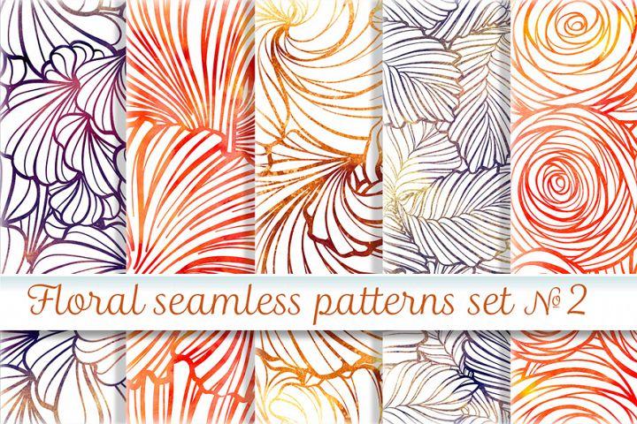 Floral seamless patterns set #2