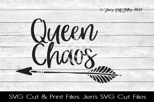 Queen Chaos SVG Cut File