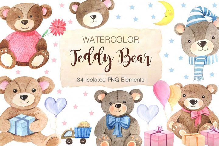 Watercolor Teddy Bears