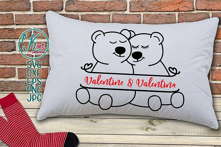 bear monogram, mama bear svg, daddy bear svg, bear svg, Valentines day monogram svg, pillow design, printable, bears, bear iron on monogram