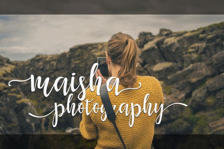 Maisha Script - Free Font of The Week Design 3
