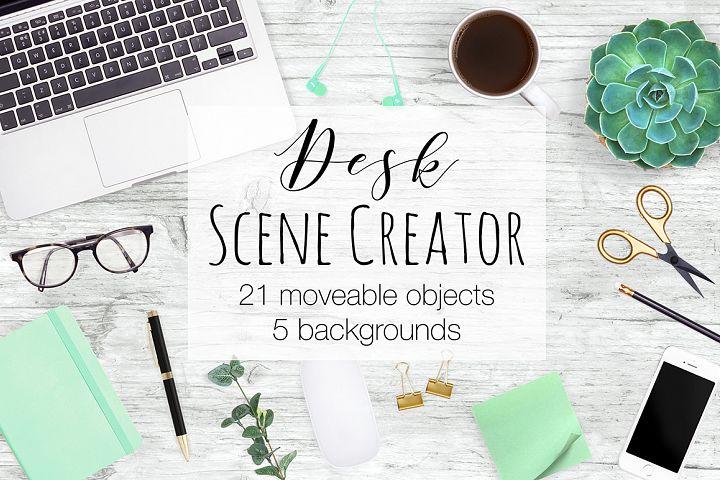 Desk Scene Creator - Top View