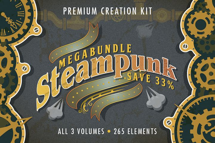 Steampunk Elements Megabundle