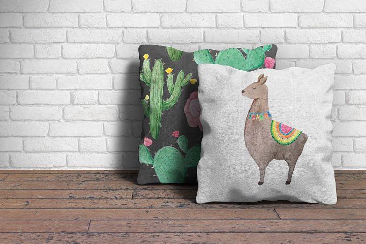 Watercolor Llamas example 5