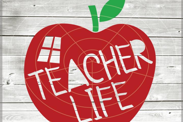 Teacher life SVG - Teacher svg - Teach svg - School Svg - teacher file - Teaching - Svg - Dxf - Eps - Png - Jpg - Pdf