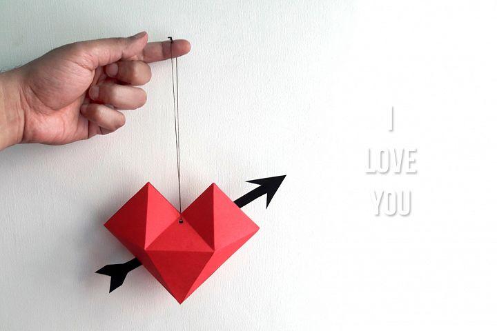 DIY Heart dangler - 3d papercraft