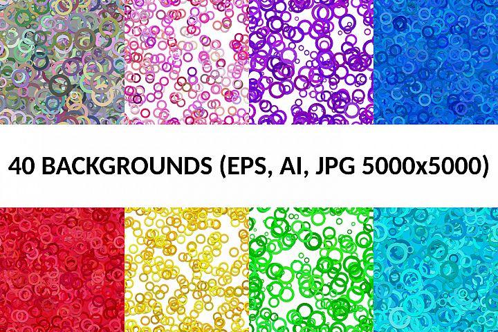 40 Seamless Circle Backgrounds (AI, EPS, JPG 5000x5000)