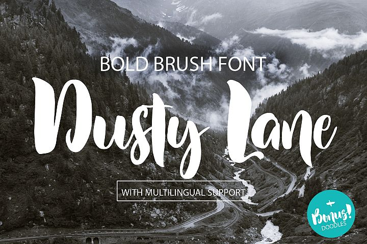 Dusty Lane - Handwritten Brush Font