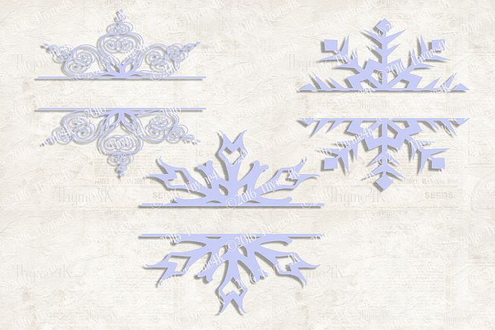 Snowflake Monograms set of 3 Digital Designs