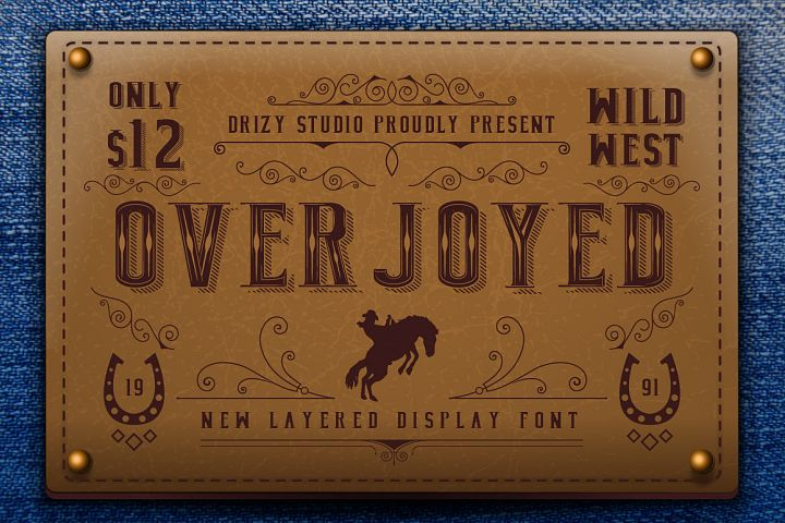 Overjoyed Layered Typeface