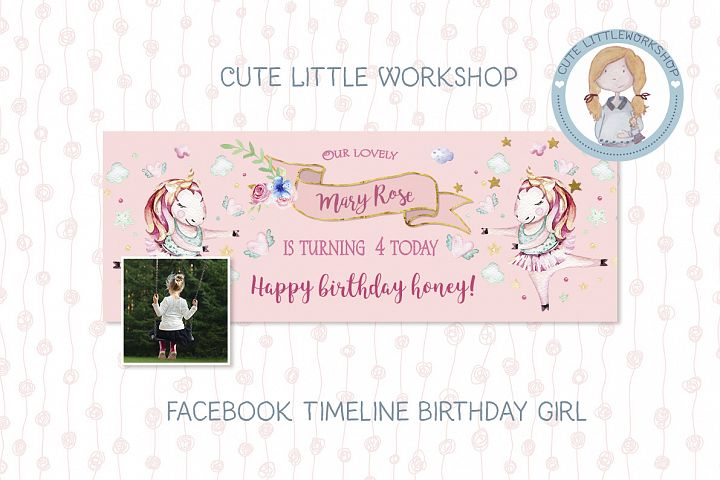 Facebook Timeline  Birthday Unicorn