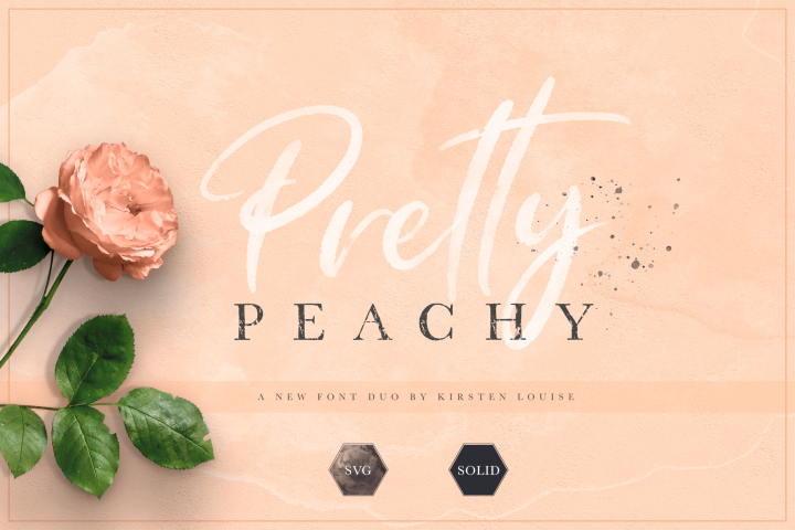 Pretty Peachy SVG Font Duo