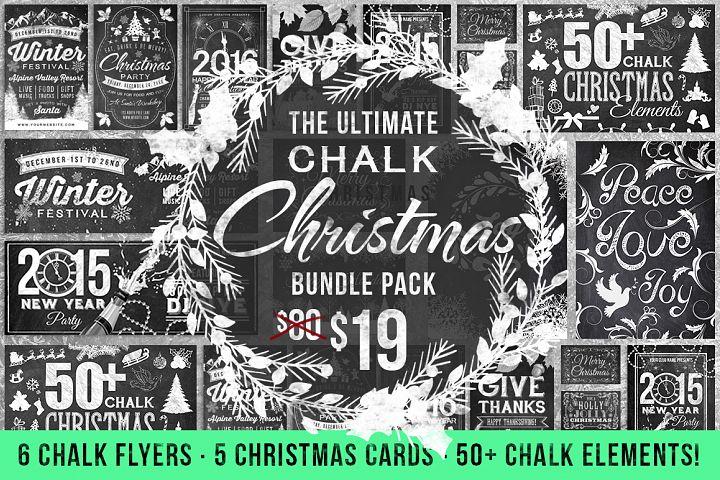 Chalk Christmas Mega Bundle (75% off)