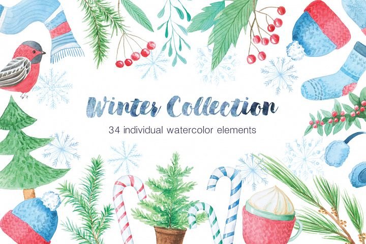 Watercolor Winter Collection