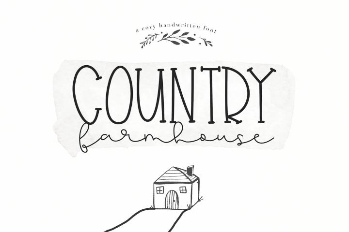 Country Farmhouse - A Handwritten Script & Serif Duo