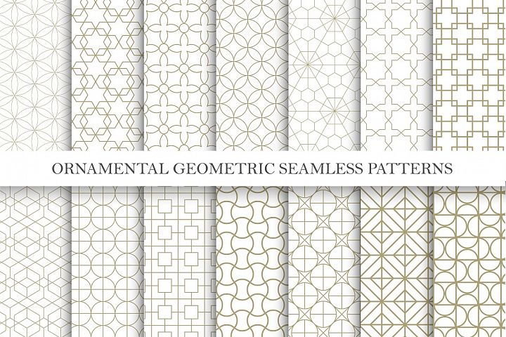 Seamless ornamental vector patterns