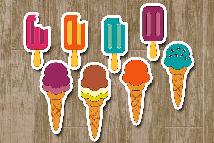 Summer Ice Cream clip art graphic illustrations