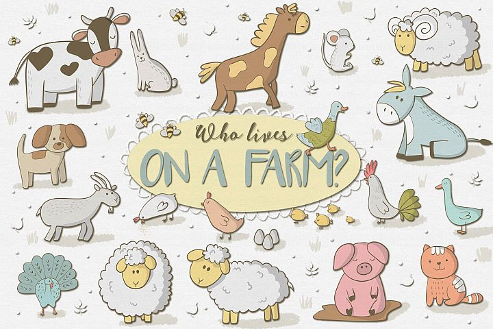 Who Lives on a Farm - Free Design of The Week