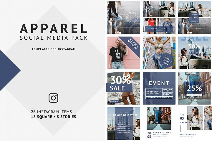 Apparel Social Media Pack