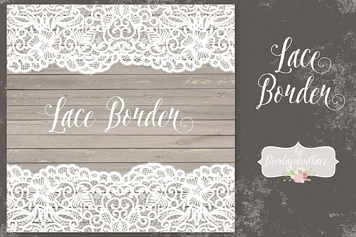 Vector lace border rustic