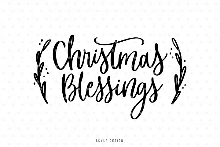 Christmas blessings SVG hand-lettered quote