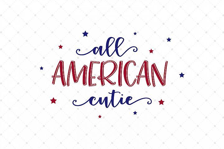 All American Cutie SVG Cut Files