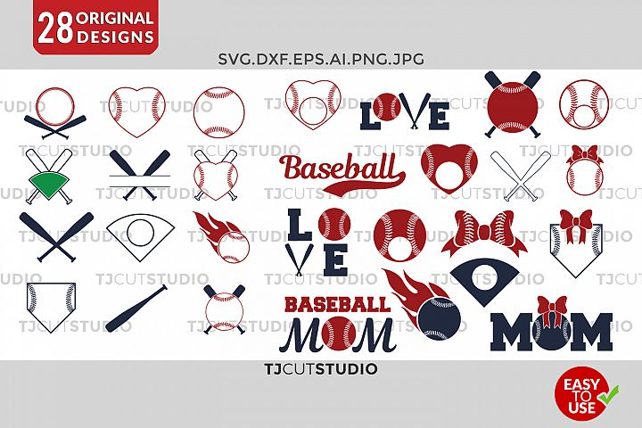 Baseball svg Baseball Monogram Frames Svg Softball SVG Baseball Frames Svg, Files for Silhouette Cameo or Cricut, Commercial & Personal Use.