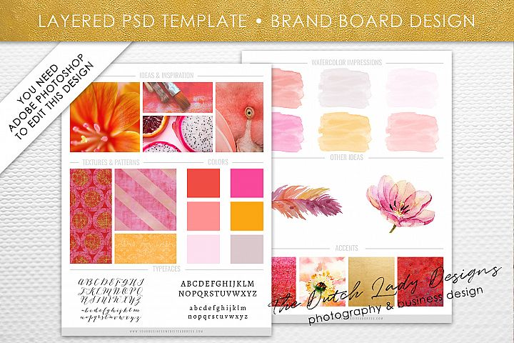 PSD Brand & Design Board Template - Design #3