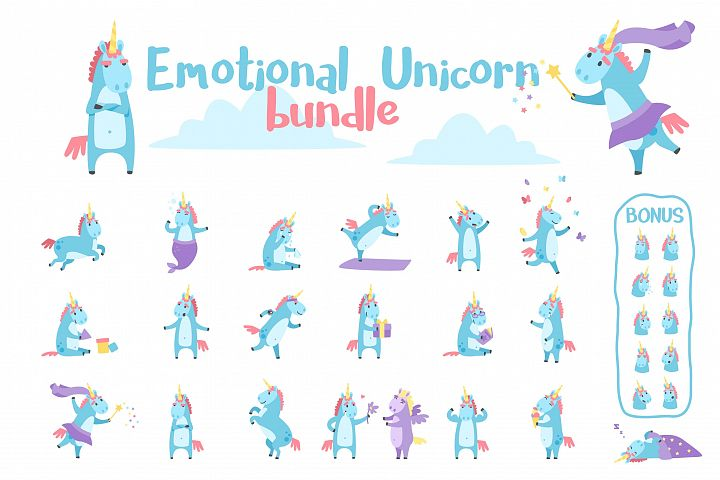 Emotional Unicorn Set
