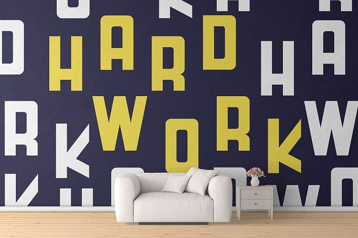 HardWork - Display Font With Styles - Free Font of The Week Design 5