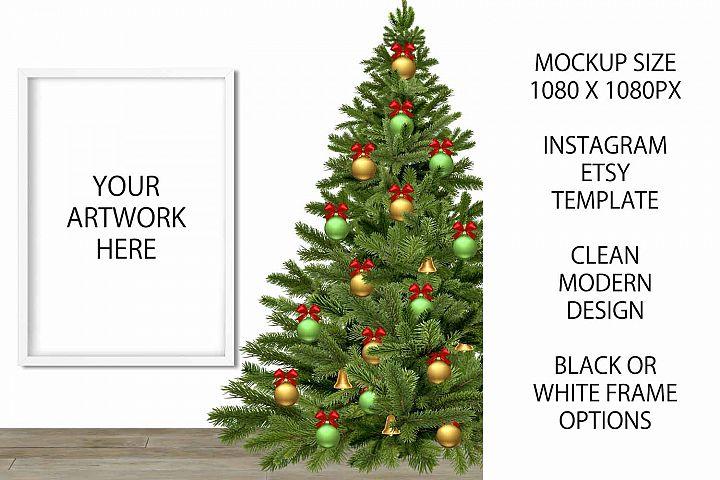 Christmas Mockup Frame for Etsy / Instagram example 1