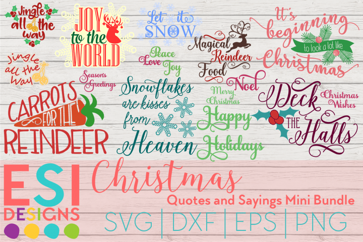 Christmas Quotes and Sayings Mini Bundle | SVG DXF EPS PNG