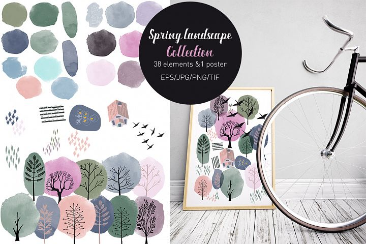 Spring landscape collection