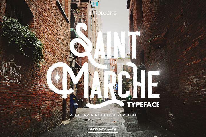 Saint Marche Typeface