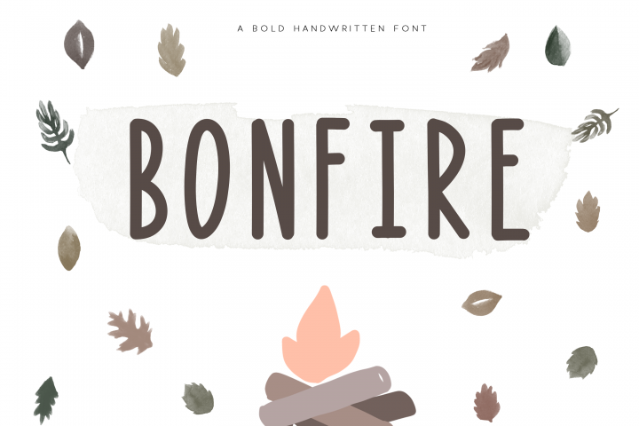 Bonfire - A Bold Handwritten Font - Free Font of The Week