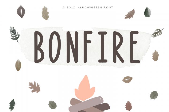 Bonfire - A Bold Handwritten Font