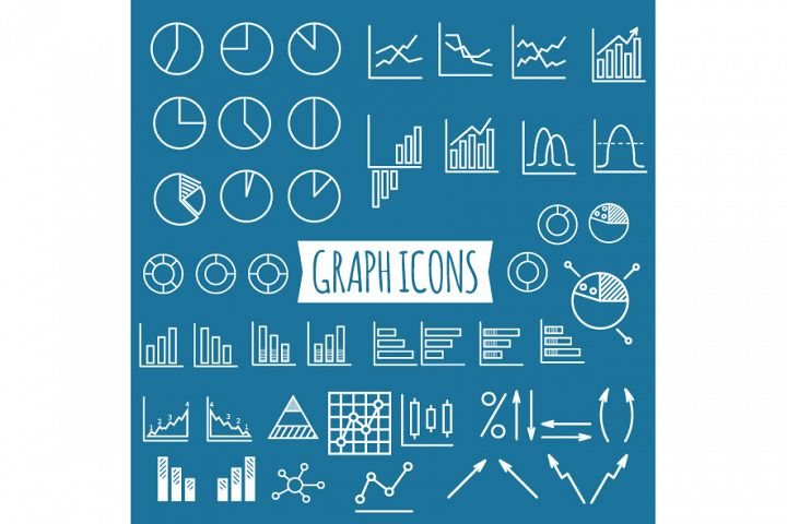 40+ Diagram and Graphs Icons example 1