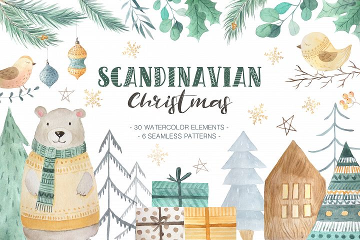 Scandinavian Watercolor Christmas