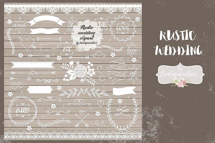 Rustic wedding elements