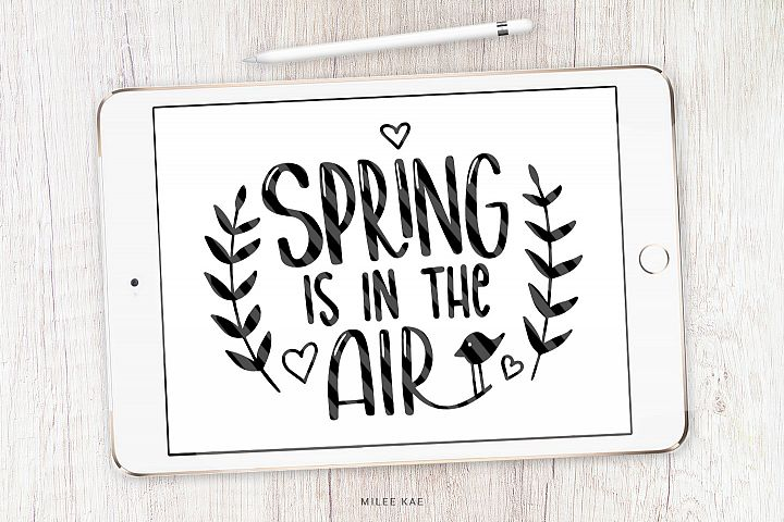 Spring Quote SVG, Cutting file, Decal