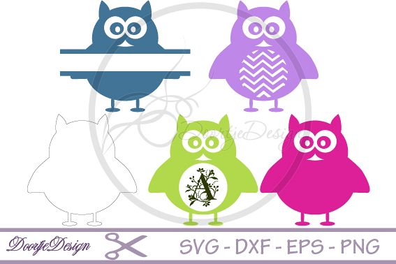 SVG Monogram Owl