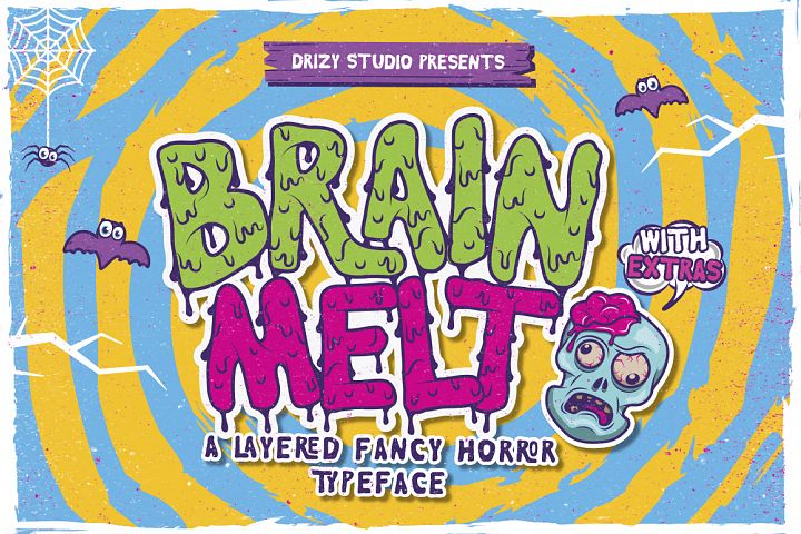 Brain Melt Layered Typeface - Free Font of The Week