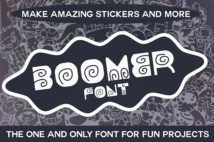 Boomer - Fun Font for Cute Projects