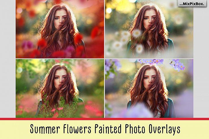 Summer Flowers Painted Overlays
