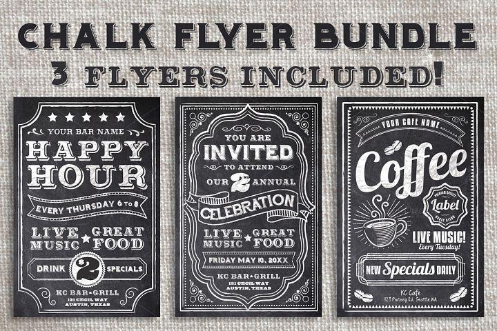 Chalk Flyer Bundle Pack