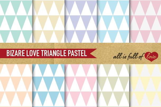 Triangles Pattern Digital Paper Geometric Backgrounds Pastel