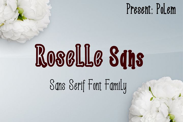 Roselle Sans Family Font